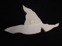 Styropor snijvorm Halloween Heksenhoed 50x32cm 3-delig