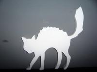 Styropor snijvorm Halloween Kat 12cm