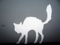 Styropor snijvorm Halloween Kat 45cm