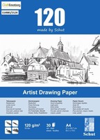 Schut Artist Drawing paper blok 30vel 120grams art. 1529 A4