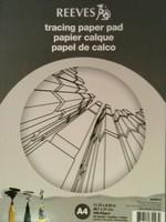 Reeves A4 Tracing paper pad, ontwerpblok 30vel 62grams