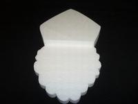 Styropor snijvorm Sinterklaas groot (2 delen) 35 cm