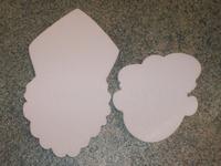 Styropor snijvorm Zwarte Piet klein 11cm dikte 2cm
