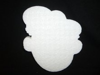 Styropor snijvorm Zwarte Piet groot 20cm dikte 3cm