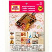 Mod Podge 12933 Podgeable Paper Travel blok 24sheets