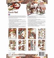 Decoupagepakket Kerst/Noel, Hobby Cirkels Elly de Waal 8347 A4 8 vel 120gr