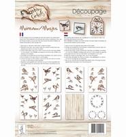 Decoupagepakket Mussen, Hobby Cirkels, Elly de Waal 8330
