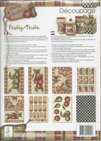 Decoupagepakket Fruitig/Fruite, Hobby Cirkels OP=OP A4 8 vel 120gr