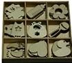 Babyspullen van karton, hout en MDF