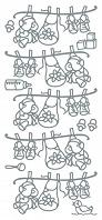 JEJE products: Peel off stickers 10x23cm