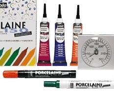 Pebeo Porseleinverf markers en omlijning