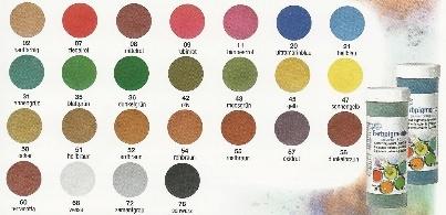 Pigmenten voor gips