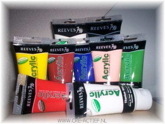 REEVES acrylverf tubes, schilderen op nummer pakke