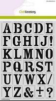 Stencils Alfabet, Cijfers, leesteken